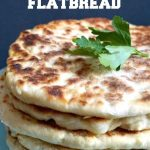 Easy No-Yeast Yogurt Flatbread, a delicious homemade bread recipe that is ready in about 40 minutes. Soft, cooked to perfection, this flatbread is way better than the store-bought one. These flat breads can be enjoyed on their own, or dipped in your favourite Indian food, or as an appetizer with hummus and other dips. It stays fresh for long, and can be prepared just before your meal. #flatbread, #bread, #noyeastbread, #homemadebreadrecipes