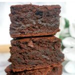 Easy Fudgy Vegan Brownies, the much-loved brownie dessert, but dairy and egg free. A super easy recipe made from scratch in less than 30 minutes.
