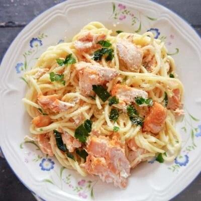 Salmon Carbonara