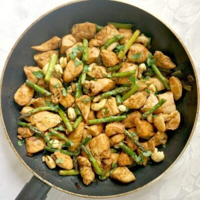 Quick Chicken and Asparagus Stir Fry