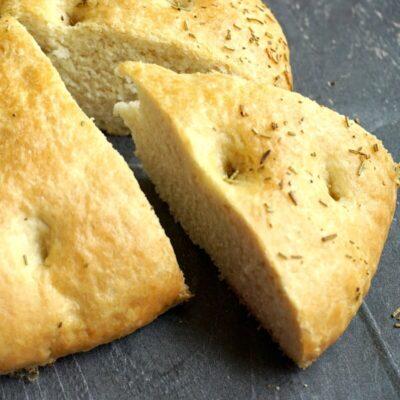 Rustic Rosemary Focaccia Bread Recipe