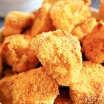 Close-up shot of chicken nuggets