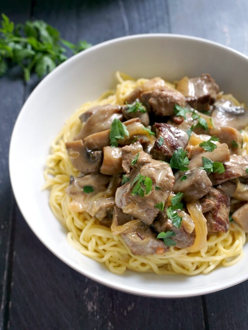 Best Slow Cooker Beef Stroganoff - My Gorgeous Recipes