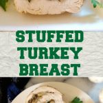 Stuffed Turkey Breast Roll with Mushrooms and Walnuts, an appetizzer that will be the star of any party. It's absolutely delicious, and as an added bonus, it's low carb, high protein, gluten free and low in calories (only 473 calories the whole roll).