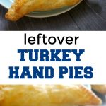 Leftover Turkey Hand Pies Recipe with Puff Pastry, a great way of using up leftover turkey from your Thanksgiving or Christmas dinner. Super easy to make, and super delicious, these hand pies are a big hit with the whole family.