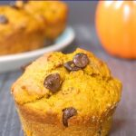 Pumpkin Chocolate Chip Muffins, incredibly fluffy and baked to perfection. The homemade pumpkin spiced muffins are super easy to make, and are ready in well under 30 minutes from scratch. Fall's favourite veggie and chocolate are definitely a match made in heaven. A simple recipe to bake for Thanksgiving, it goes well for brunch or just dessert.