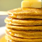 Fluffy Oatmeal Pumpkin Pancakes, a delicious breakfast or brunch treat this Fall. Incredibly easy to make, these pancakes can be enjoyed by the whole family. Bonus point, they are healthy, gluten free, and packed with fiber.