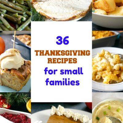 Small Thanksgiving Dinner Recipes