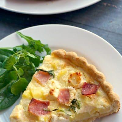 Ham, Cheese and Potato Quiche