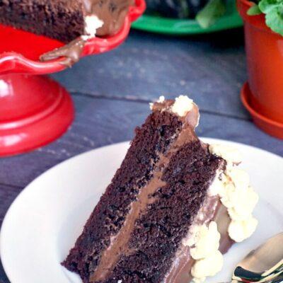 Coffee Chocolate Cake with Mascarpone Buttercream