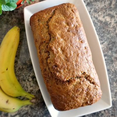 Walnut Banana Bread with Honey