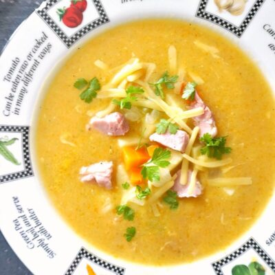 Cheesy Ham and Potato Soup