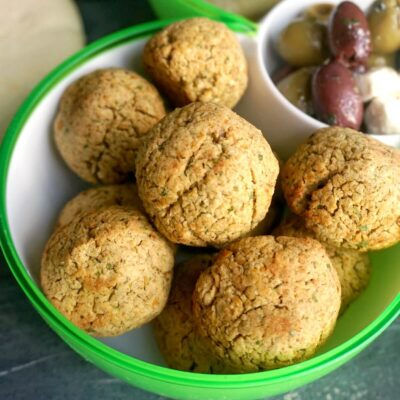 Baked Falafel with Canned Chickpeas