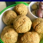A bowl with falafel balls