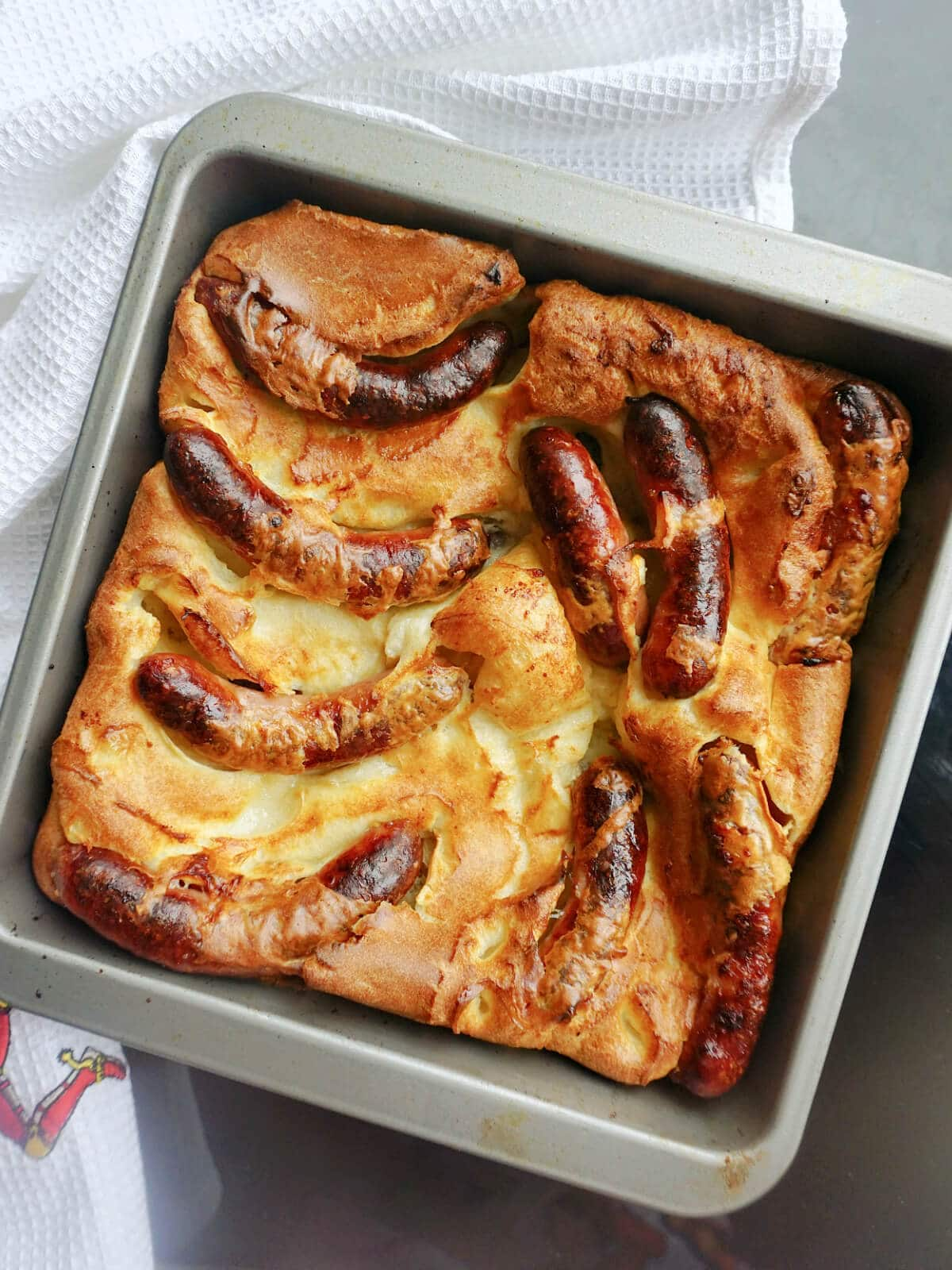 A tray with toad in the hole