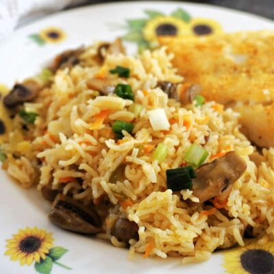 Oven Baked Rice with Vegetables