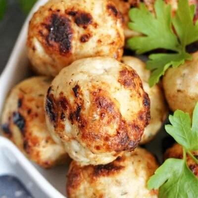 Baked Chicken Apple Meatballs