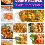 Collection of homemade curry recipes