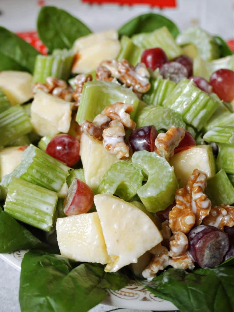 Close-up shoot of waldorf salad