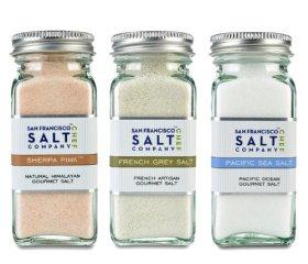 4oz Salt Shaker 3 Pack: Himalayan Salt, French Grey Salt, Pacific Ocean Salt
