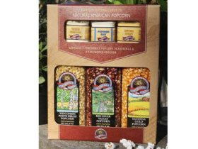 Gourmet Popcorn and Seasoning Gift Box