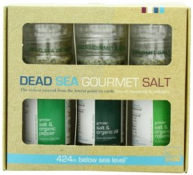 Salt 424 Three Grinder Pack 100% Organic Salts, Rosemary, Dill and Pepper, 25.11 Ounce