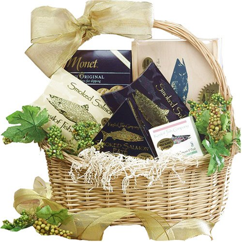 Art of Appreciation Gift Baskets Classic Smoked Salmon Seafood Basket