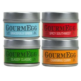 GourmEGG Spices – 4 Flavor Spice Gift Set – Gourmet Seasonings for the Curious