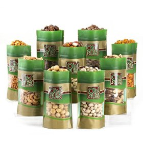 Mixed Nuts Gift Box – 9 Gourmet Varieties 45 Oz – Oh! Nuts (Nine Varieties)