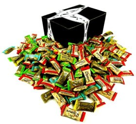 Chimes Ginger Chews 5-Flavor Variety: One 1 lb Assorted Bag of Original, Orange, Mango, Peppermint, and Peanut Butter in a BlackTie Box
