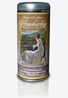 Pemberley – Lavender and Lemongrass Green Tea – Premium Tea Sachets – Jane Austen Inspired Tea Collection – Gourmet Leaf Tea Blend