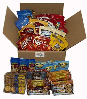 Healthy Snacks Individually Wrapped, In a Box (45 Count), Gift Basket, Adults, Kids, Care Package