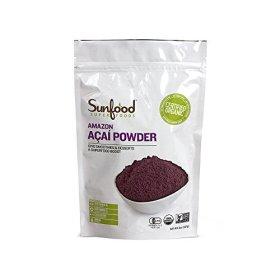 Sunfood Acai Powder, Certified Organic, Non-GMO, Raw, 8oz