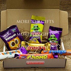 Cadbury Funsize Treat Box – Buttons, Freddo Bars, Curly Wurly, Chomp, Fudge & Crunchie – By Moreton Gifts