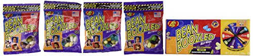 Jelly Belly 3.5 oz BeanBoozled Spinner Wheel Game Jelly Bean Gift Box 3rd Edition with 4 – 1.9 oz BeanBoozled Jelly Bean Refills (Party Pack)