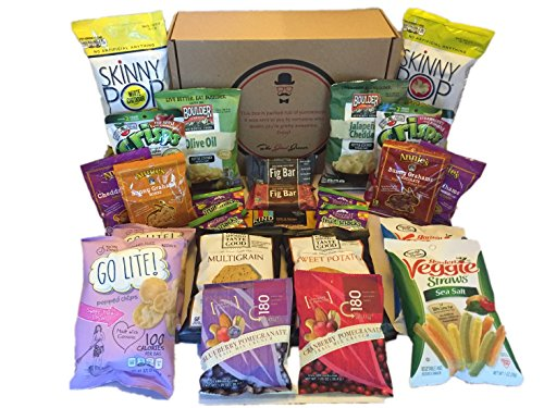 Non-GMO, Natural and Organic Healthy Snacks Care Package (25 Count)