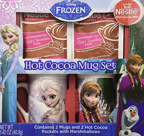 Disney Frozen Hot Cocoa Mug Gift Set, 4 pc