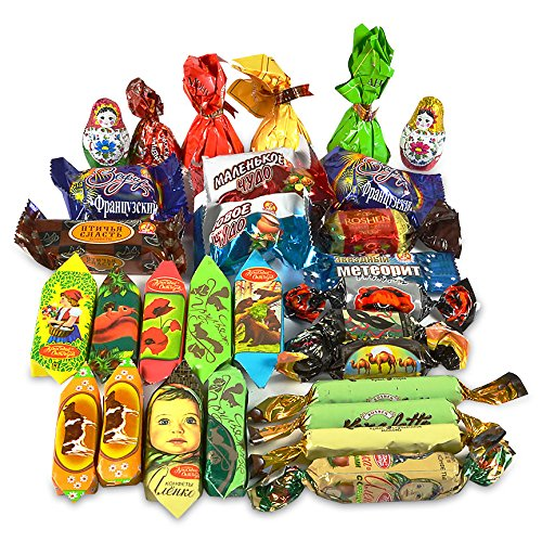 Gourmet Russian and Ukrainian Chocolate Candy Assortment, 1 lb/ 0.45 kg