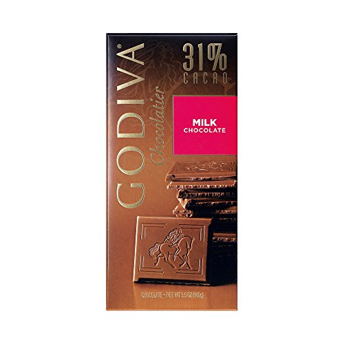 Godiva Milk Chocolate Bar, 3.5-Ounces (Pack of 5)