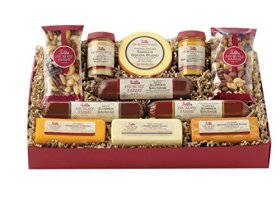 Hickory Farms Signature Party Gift Box Holiday Summer Sausage Cheese Nuts App…
