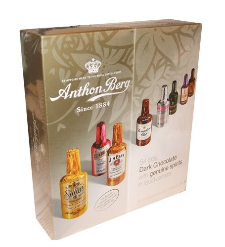 Anthon Berg Dark Chocolate Liqueurs with Original Spirits – 64 pcs. Gift Box (2 Pack!)