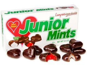 Junior Mints Chocolate Hearts Shaped Candy Theater Box 3.5oz Packs: (Pack of 2)