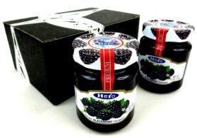 Hero Premium Blackberry Fruit Spread, 12 oz Jars in a Gift Box (Pack of 2)