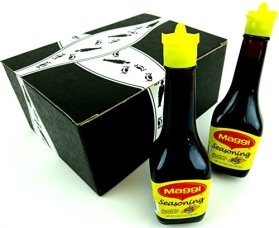 Maggi Seasoning Sauce, 3.38 oz Bottles in a Gift Box (Pack of 2)