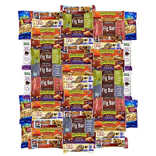 Ultimate Healthy Bar & Snacks Variety Pack Bulk Sampler (50 Count)