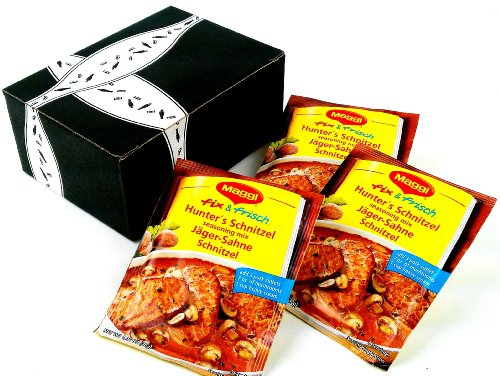 Maggi fix & frisch Jäger-Sahne Schnitzel (Hunter's Schnitzel) Seasoning Mix, 1.06 oz Packets in a Gift Box (Pack of 3)