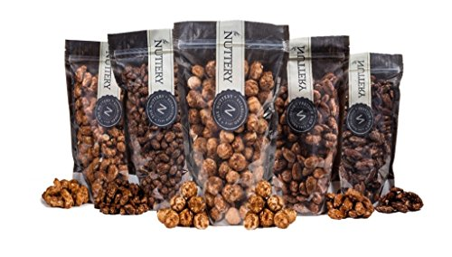 The Nuttery Freshly Roasted and Glazed Cashews – One (1) Lb Bag of Kosher Sweet Cashews Nuts