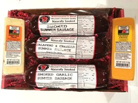Wisconsin's Best, Smoked Summer Sausage and Wisconsin Cheese Gift Box