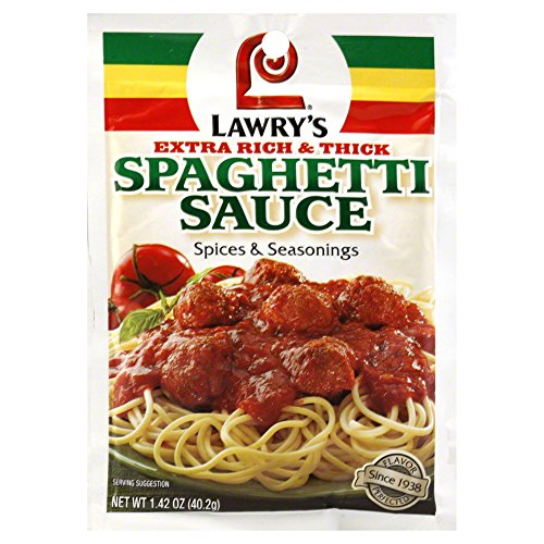 LAWRY'S Lawrys Spices & Seasonings Extra Rich & Thick Spaghetti Sauce 1.42 OZ