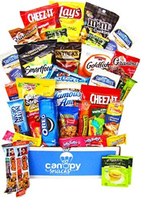 Ultimate Snacks Variety Box (50 Count) – Chips, Cookies, Candy Assortment Bundle Gift Pack – College Care Package
